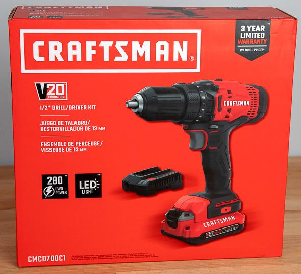 Craftsman V20 Cordless Drill Driver Kit CMCD700C1