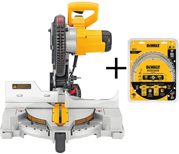 Dewalt 10-inch Miter Saw Cyber Wednesday 2018 Deal