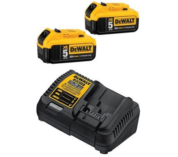 Dewalt 20V Max 5Ah Battery 2-Pack and Charger