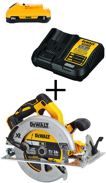 Dewalt 20V Max Brushless Circular Saw Bundle Deal