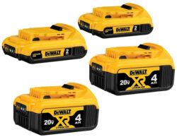 Dewalt 4x 20V Max Cordless Power Tool Battery Bundle Deal