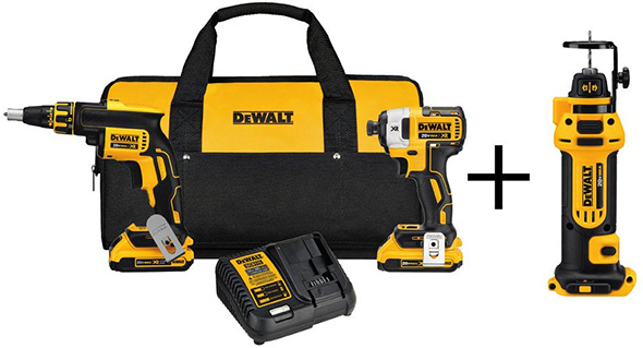 Dewalt Cordless Drywall Tool Kit Black Friday 2018 Tool Deal