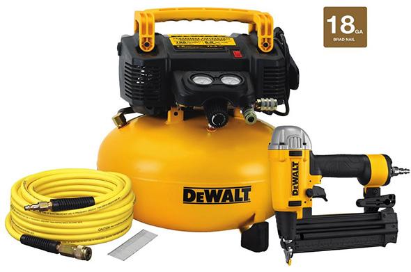 Dewalt DW1KIT18PP Air Compressor and Brad Nailer Bundle