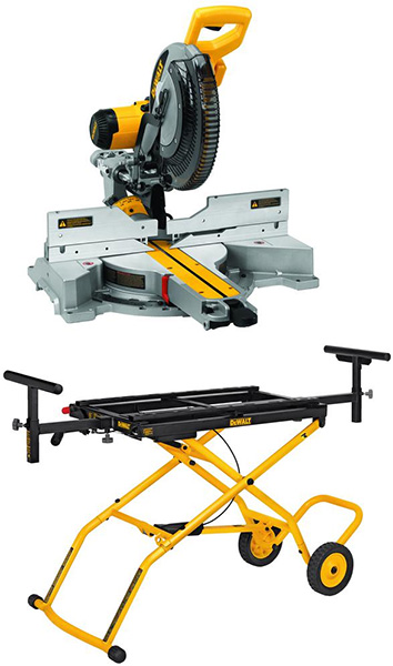 Dewalt DWS779 with Roller Stand Bundle