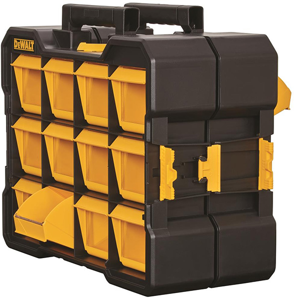 Dewalt Flip-Bin Organizers Connected Back to Back