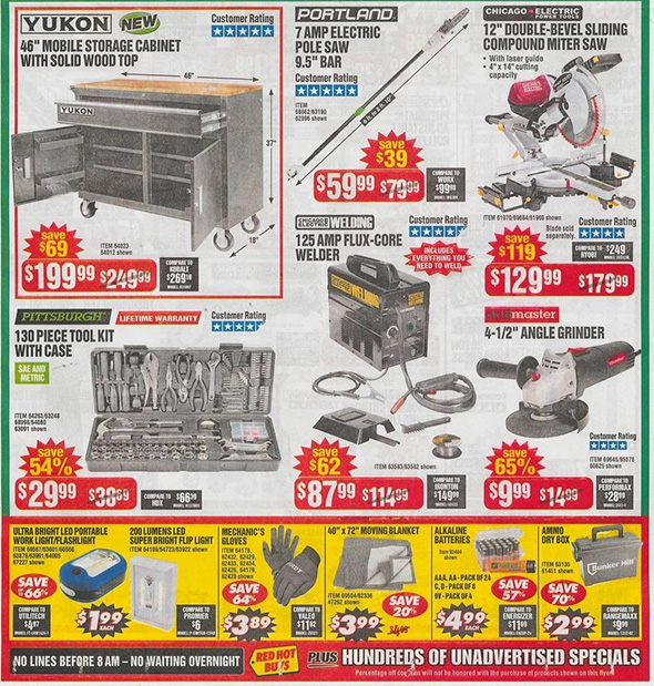 Harbor Freight Black Friday 2018 Ad Scan Page 2