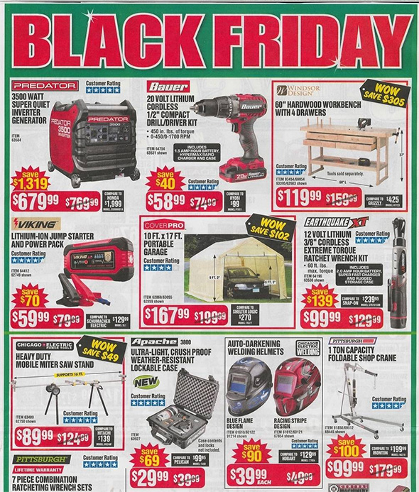 Harbor Freight Black Friday 2018 Ad Scan Page 3