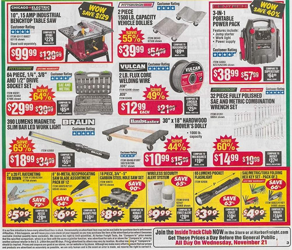 Harbor Freight Black Friday 2018 Ad Scan Page 6