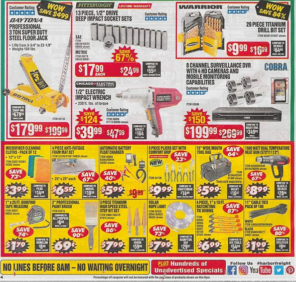 Harbor Freight Black Friday 2018 Ad Scan Page 8