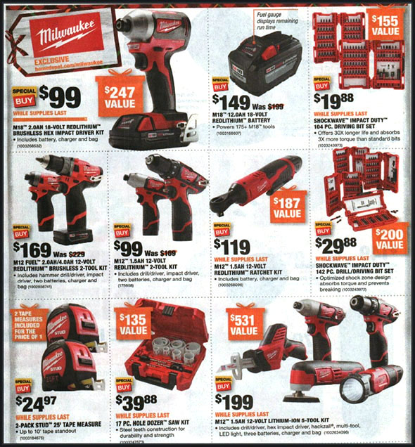 Home Depot Black Friday 2018 Tool Deals
