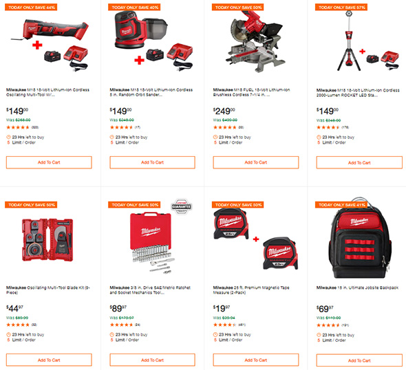 Home Depot Cyber Monday 2018 Milwaukee Tool Deals Page 2