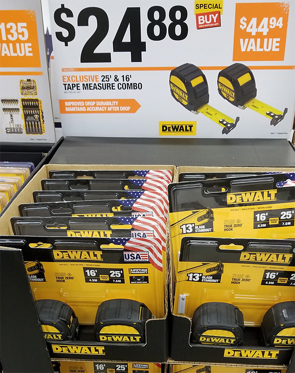 Home Depot Pro Black Friday 2018 Dewalt Tape Measure 2-Pack