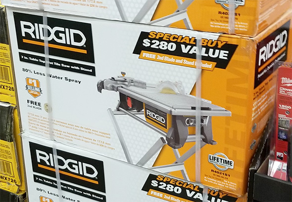 Home Depot Pro Black Friday 2018 Ridgid Tile Saw with Stand