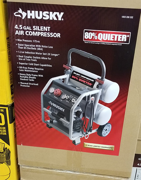 Home Depot Pro Black Friday 2018 Tool Deals Husky Silent Air Compressor
