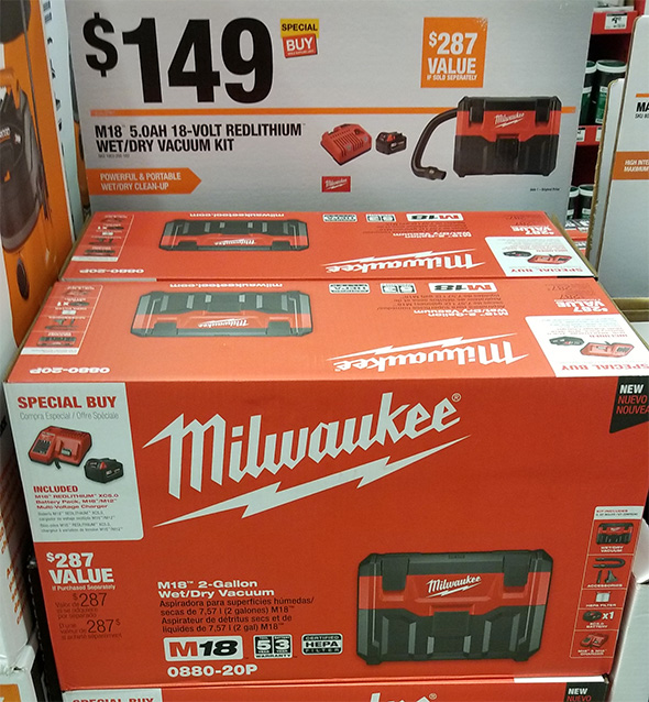 Home Depot Pro Black Friday 2018 Tool Deals Milwaukee M18 Wet Dry Vacuum Special Buy