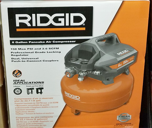 Home Depot Pro Black Friday 2018 Tool Deals Ridgid 6 Gallon Air Compressor