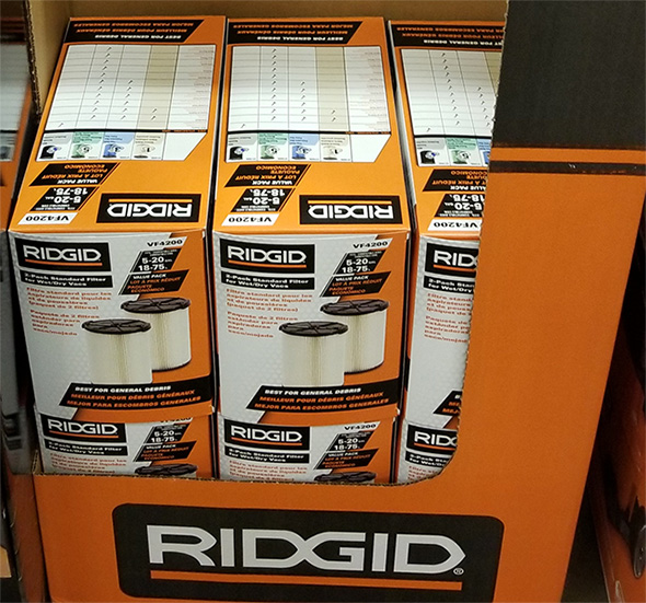 Home Depot Pro Black Friday 2018 Tool Deals Ridgid Vacuum Filters