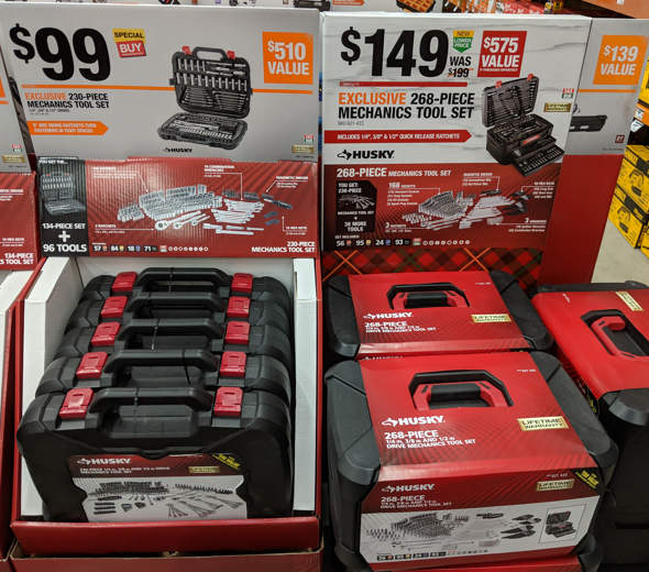 Husky 230 and 268 Piece Toolkit Special Buys
