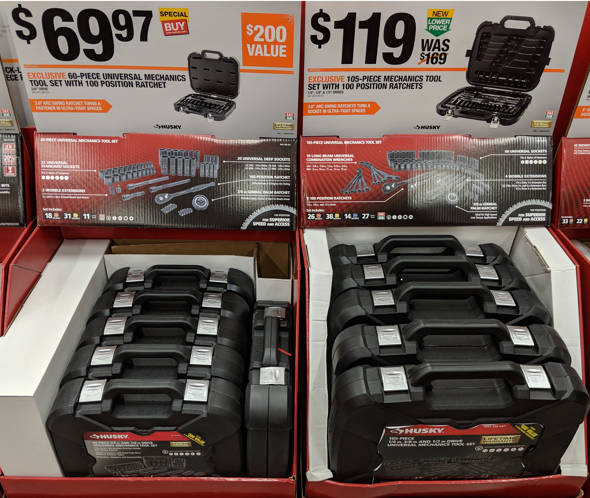 Husky 60 and 105 Piece Toolkit Special Buys