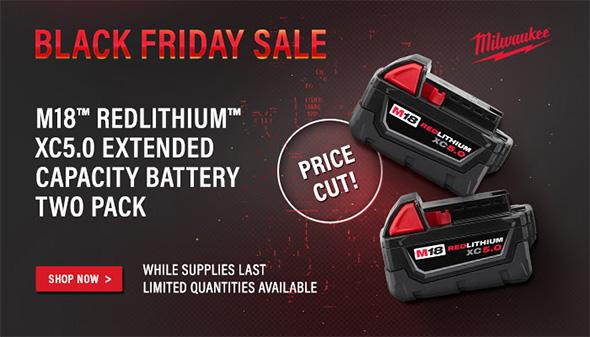International Tool Milwaukee 5Ah Battery Thanksgiving Deal