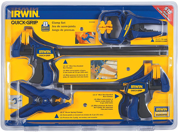 Irwin 8pc Clamp Set