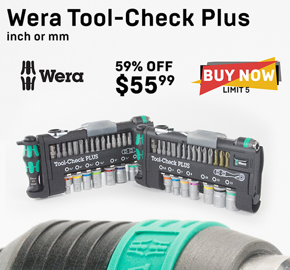 KC Tool Black Friday 2018 Wera Tool-Check Plus