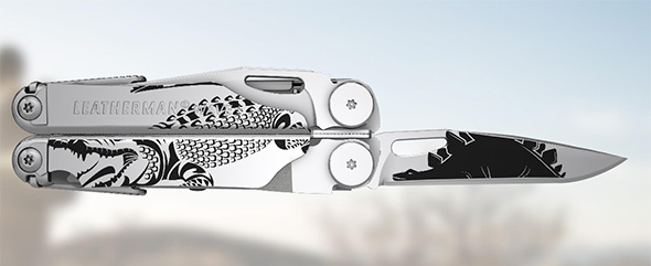 Leatherman Wave Plus Custom Shop Artwork Example
