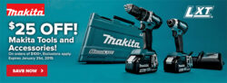 Makita 25 off 100 Holiday 2018 Promo at Tool Nut