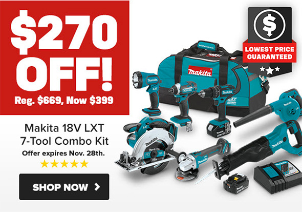 Makita Pre-Black Friday 2018 18V Cordless Power Tool Combo Kit Deal