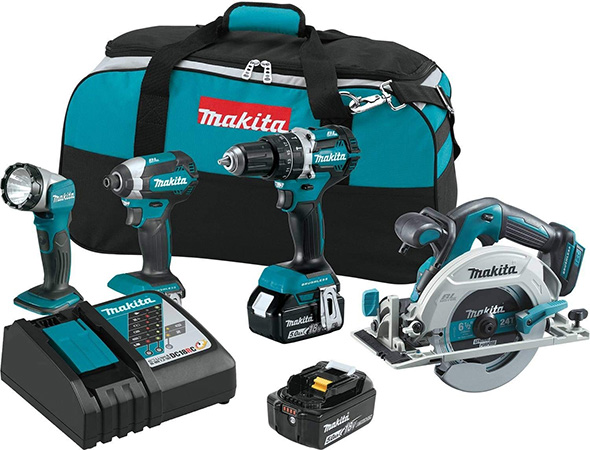 Makita XT446T Cordless Power Tool Combo Kits