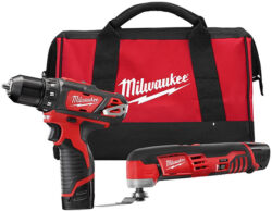 Milwaukee 2495-22 M12 Cordless Drill and Oscillating Multi-Tool Kit