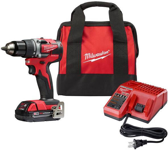 Milwaukee 2801-21P M18 Compact Brushless Drill Kit