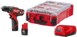 Milwaukee M12 Cordless Drill Kit and Packout Combo Bundle