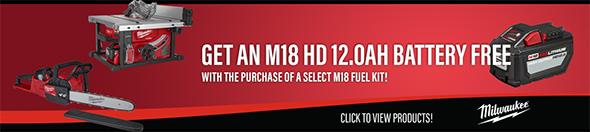 Ohio Power Tool Milwaukee Deals Holiday 2018 M18 Fuel Bonus 12HD Battery