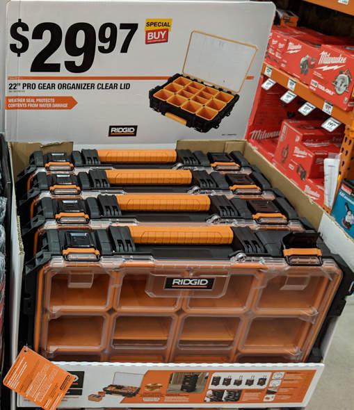 Ridgid 22 inch Parts Organizer
