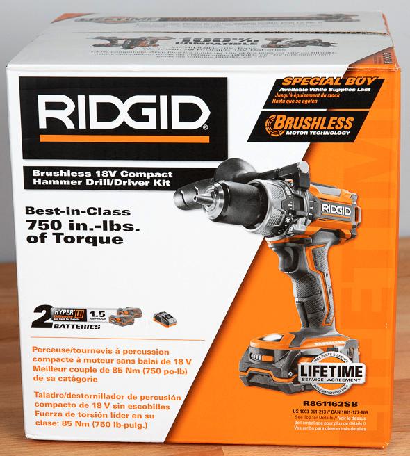 Ridgid R86116 Black Friday 2018 Cordless Drill Box