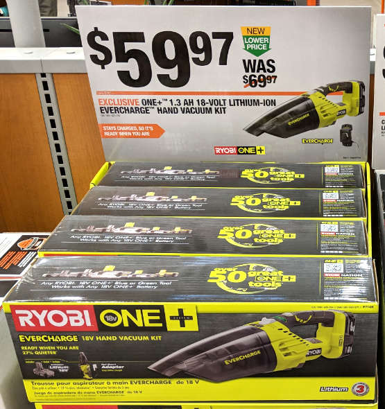 Ryobi EverCharge Vaccum Special Buy at Home Depot 2018
