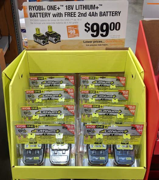 Ryobi Lithium Battery Special Buy At Home Depot