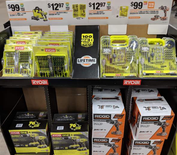 Ryobi and Ridgid Cordless Tools at Home Depot 2018