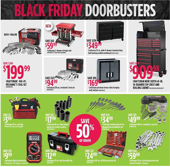 Sears Black Friday 2018 Tool Deals Page 3
