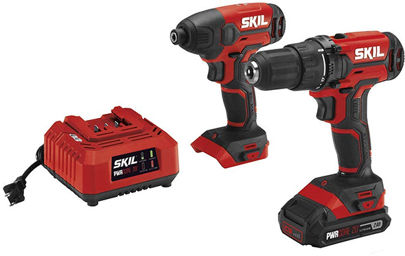 Skil PWRCore 20V Cordless Drill and Impact Driver Combo Kit Deal CB739001