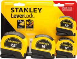 Stanley LeverLock Tape Measure Set