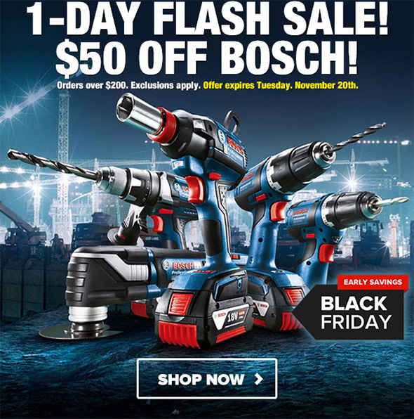 Tool Nut Bosch Flash Sale 11-20-18