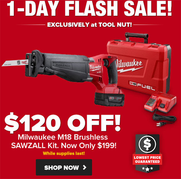Tool Nut Cyber 2018 Monday Reciprocating Saw Deal