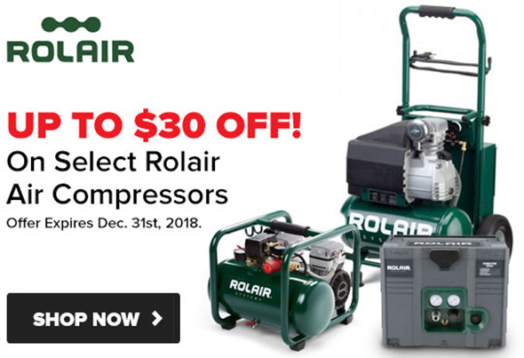 Tool Nut Rolair Air Compressor Sale Black Friday Week 2018
