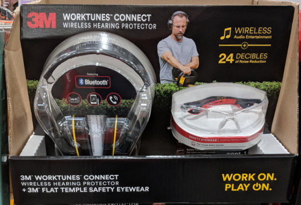 3M WorkTunes Connect Bluetooth Hearing Protectors at Costco