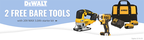 Acme Tools Dewalt 20V Free Brushless Bare Tool Promo 12-2018