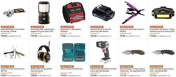 Amazon Tool Deals of the Day 12-17-18