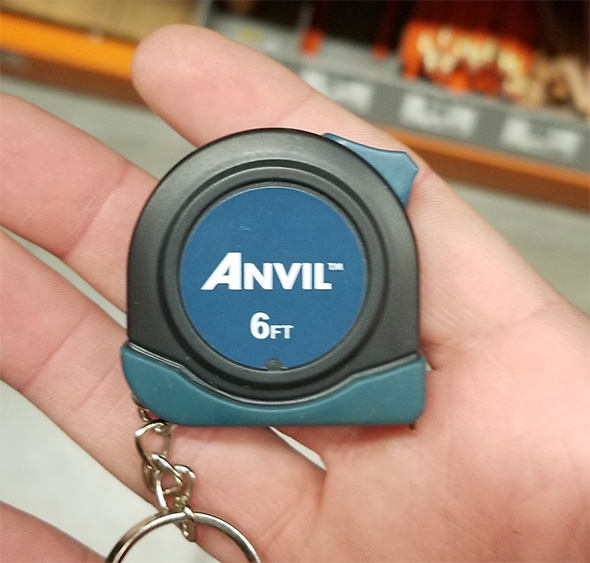 Anvil 6-foot Tape Measure Keychain in Hand