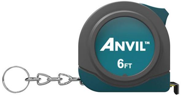 Anvil 6-foot Tape Measure Keychain